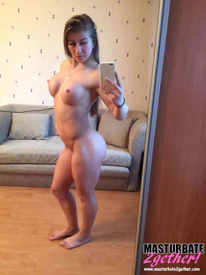 Fitness Girl With Huge Fake Tits Wants To Masturbate -6029